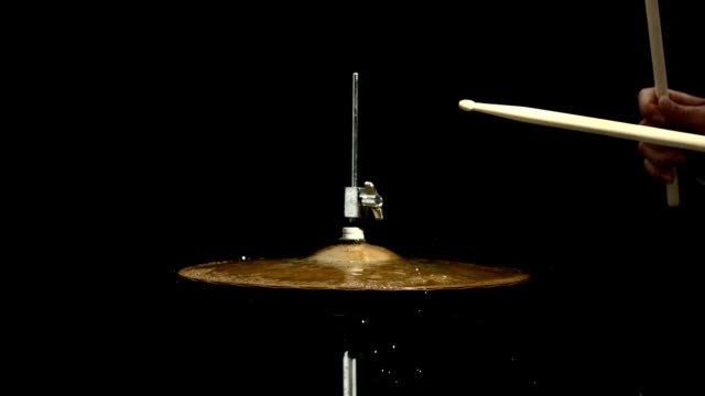 HD Super Slow-Mo: Playing The Hi-Hat With Drum Sticks