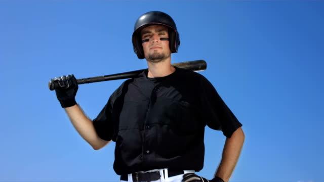 Super Zeitlupe, HD: Porträt von einem Baseball-Ausbackteig