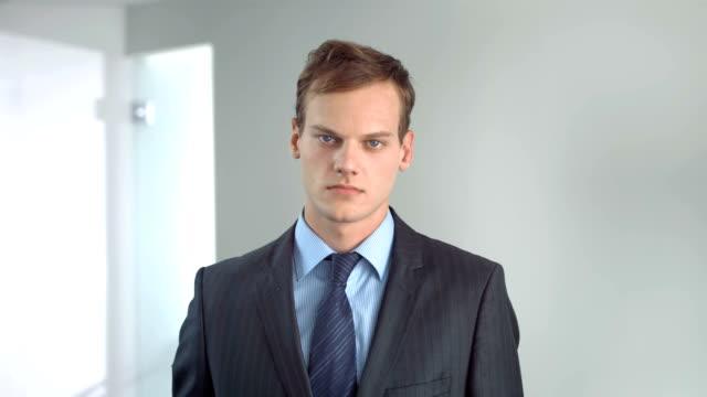 HD Super Slow-Mo: Portrait Of Authority Businessman