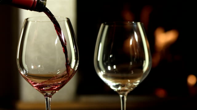 HD Super Slow-Mo: Pouring A Red Wine