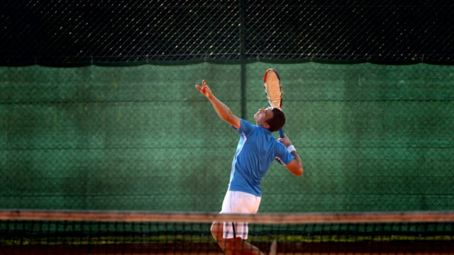 hd super slow-mo: serving the ball on a clay court - tennis stock videos & royalty-free footage