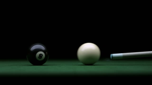 hd super slow-mo: shooting the cue ball - number 8 stock videos & royalty-free footage