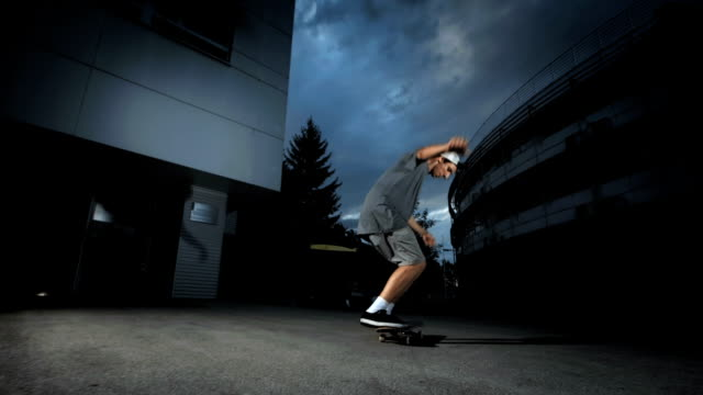 HD Super Slow-Mo: Skater Doing Variable Flip Trick