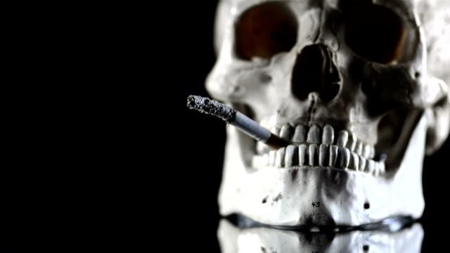 hd super slow-mo: smoking kills - human mouth stock videos & royalty-free footage