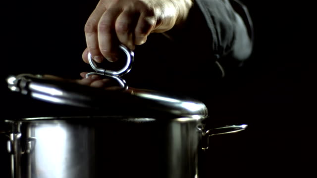 HD Super Slow-Mo: Steam Coming Out Of A Pot