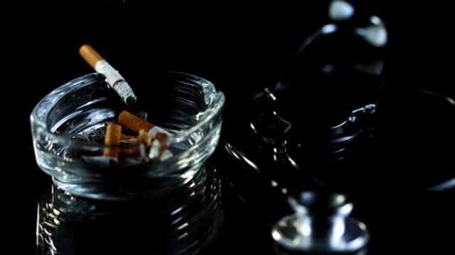 HD Super Slow-Mo: Symbol Of Smoking Danger