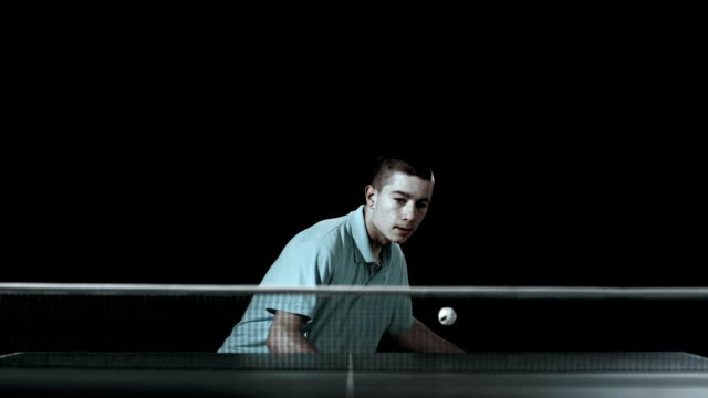 hd super slow-mo: teenager playing table tennis - table tennis stock videos & royalty-free footage