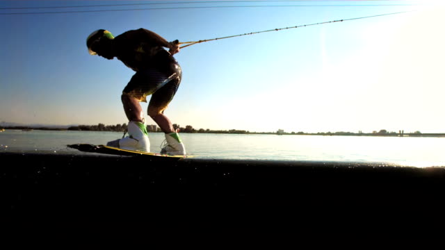 HD Super Slow-Mo: Wakeboarder Doing Trick On The Pipe