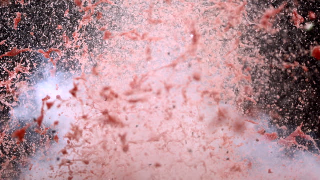 stockvideo's en b-roll-footage met hd super slow-mo: watermelon explosion - bom