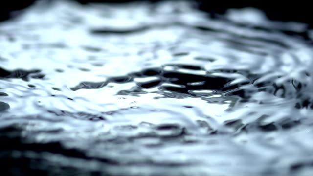 - super zeitlupe, hd: wellen auf der wasseroberfläche - in bodenhöhe stock-videos und b-roll-filmmaterial
