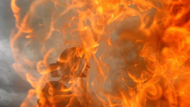 HD Super Slow-Mo: Woman In Fire