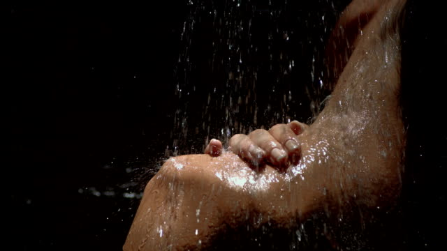 HD Super Slow-Mo: Young Sensual Woman Under The Shower