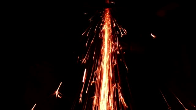 HD Super Slow-Mo:Burst out the spark
