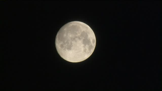 ktla super snow moon - supermoon stock videos & royalty-free footage