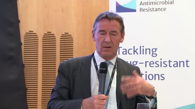 Jim O'Neill press conference O'Neill press conference SOT on lack of financial incentives for companies to develop superbug resistant antibiotics...