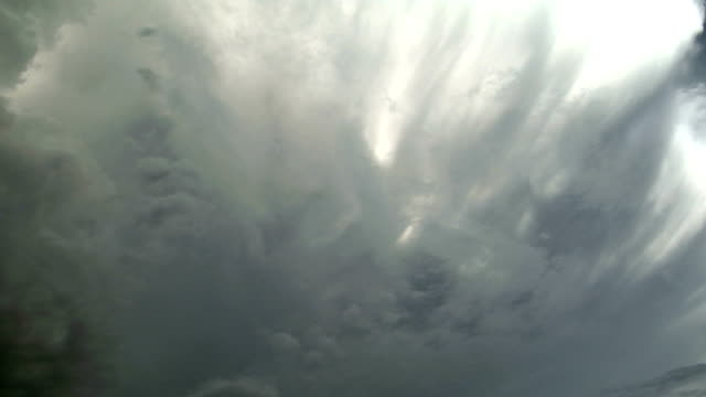 Supercell storm cloud, timelapse
