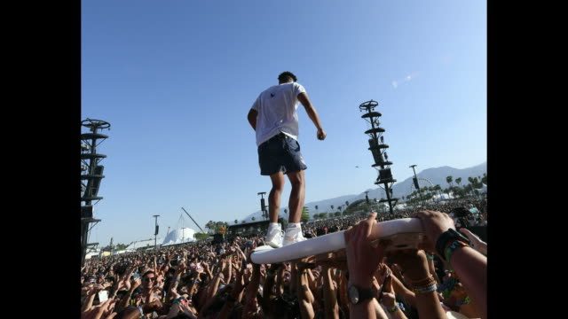 SuperDuperKyle performs during the 2018 Coachella Valley Music And Arts Festival at the Empire Polo Field on April 13 2018 in Indio California