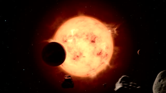 super-earth exoplanet transiting its star - atmosphere filter stock videos & royalty-free footage