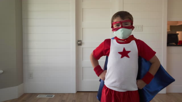 superhero boy with two masks - strength stock videos & royalty-free footage