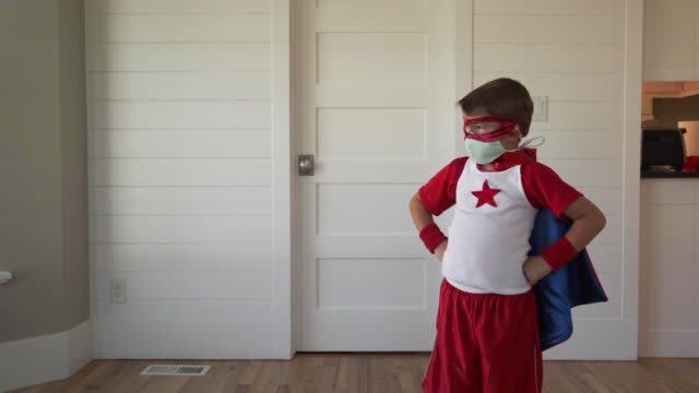 superhero boy with two masks - social grace stock videos & royalty-free footage