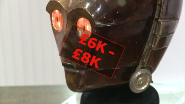 superhero memorabilia on display before auction england london rickmansworth int batman and unknown costume pan robocop and unknown costume cp30 head... - nike designer label stock videos and b-roll footage