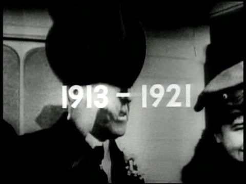 stockvideo's en b-roll-footage met '19131921' superimposed over cu president woodrow wilson tipping hat w/ wife first lady edith bolling wilson at ceremony ext ms wilson and edith... - woodrow wilson