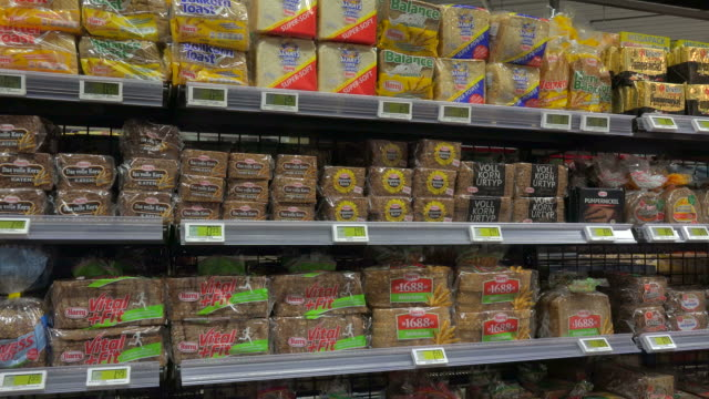 supermarket aisle - scaffale video stock e b–roll