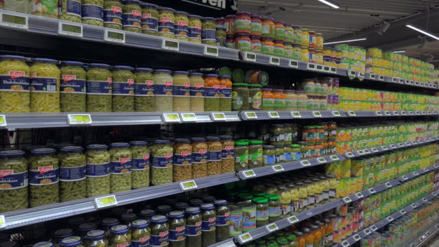 supermarket aisle - shelf stock videos & royalty-free footage