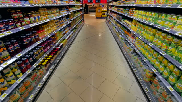 supermarket aisle - regal stock-videos und b-roll-filmmaterial
