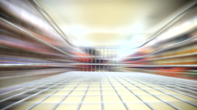 supermarket/ grocery store speed loop. hd - buy single word stock videos & royalty-free footage