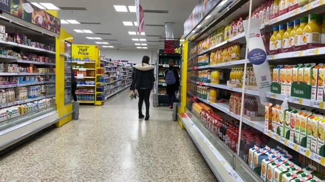 supermarkets in london have seen their shelves empty out on march 10 2020 as panicked citizens prepare for a lockdown with over number of cases of... - fear stock videos & royalty-free footage