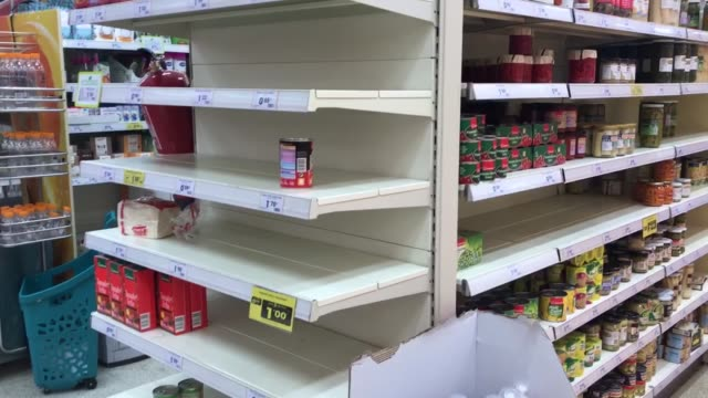 supermarkets in madrid have seen their shelves empty out on march 10, 2020 as panicked citizens prepare for a lockdown with over 1,600 confirmed... - terrified stock videos & royalty-free footage