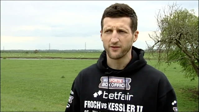 carl froch to face mikkel kessler ext carl froch interview sot need to perform at the top level - world title stock videos and b-roll footage