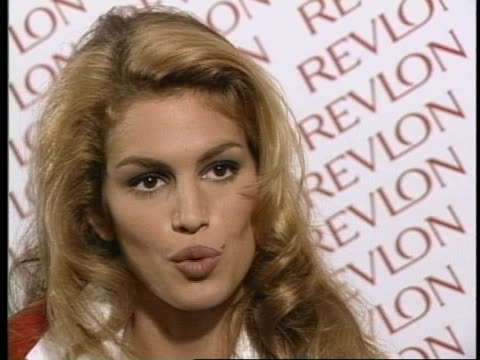supermodel cindy crawford talks about the ups and downs of being in the fashion industry. - cindy crawford stock videos & royalty-free footage