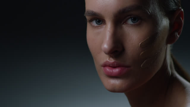 supermodel face closeup. fashion video. make-up - beauty treatment stock videos & royalty-free footage