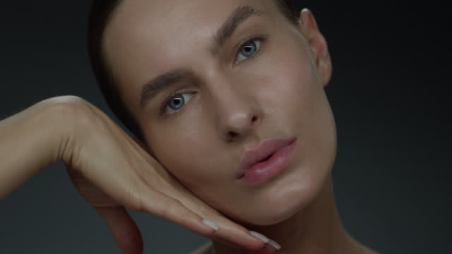 supermodel face closeup. fashion video. make-up - greasepaint stock videos and b-roll footage