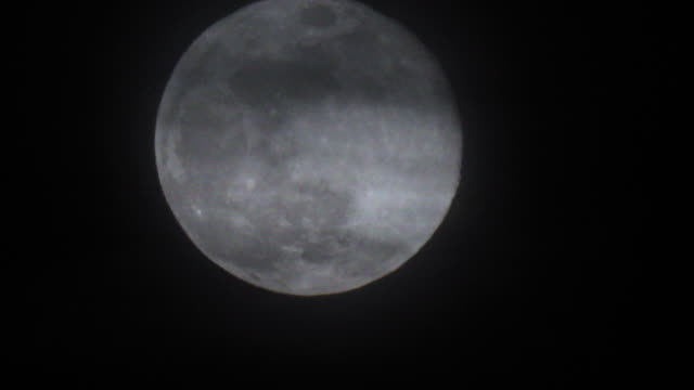 supermoon full moon moving across night sky - 1080p - ominous stock videos & royalty-free footage