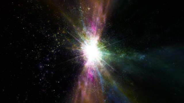 vídeos y material grabado en eventos de stock de a supernova bursts light (loop). - supernova