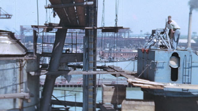 CS Superstructure of the USS Yorktown under construction / Newport News Virginia United States