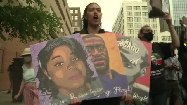 supporters and relatives of george floyd marched sunday ahead of the first anniversary of his murder by a white policeman, a killing that prompted a... - unfairness stock videos & royalty-free footage