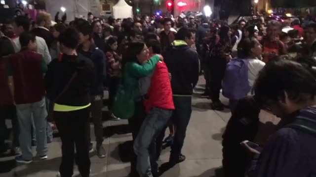supporters gather on mexico city's emblematic zocalo square to celebrate leftist andres manuel lopez obrador's presidential victory - zocalo mexico city stock videos & royalty-free footage