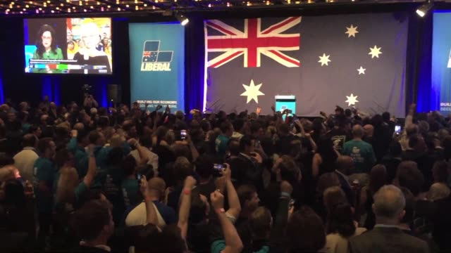 AUS: Australia: Liberal supporters celebrate election victory