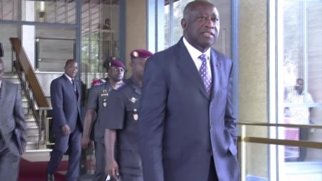 supporters of former ivory coast president laurent gbagbo, who lives in exile in brussels after losing a civil war in 2011, say that they will file a... - côte d'ivoire stock videos & royalty-free footage