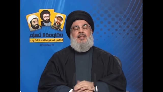 supporters of hezbollah listen to the speech of secretarygeneral of hezbollah sayyed hassan nasrallah during a rally in the southern suburbs of... - hezbollah stock videos & royalty-free footage