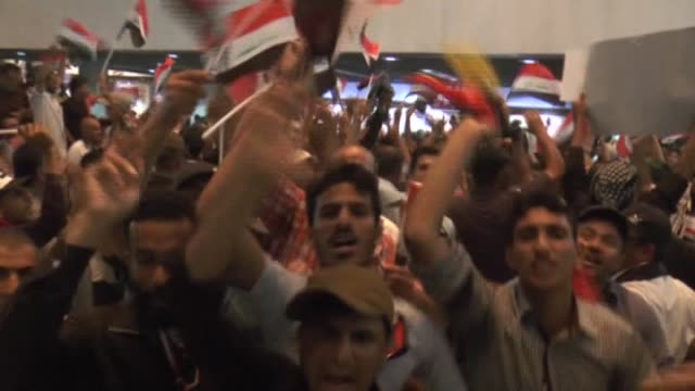supporters of iraqi shia cleric muqtada alsadr storm parliament building in baghdad's heavilyfortified green zone on april 30 2016 thousands of... - muqtada al sadr stock videos & royalty-free footage