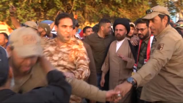 supporters of iraqi shia leader muqtada alsadr continue their campaign of civil disobedience at the entrances to the green zone a central area that... - muqtada al sadr stock videos & royalty-free footage