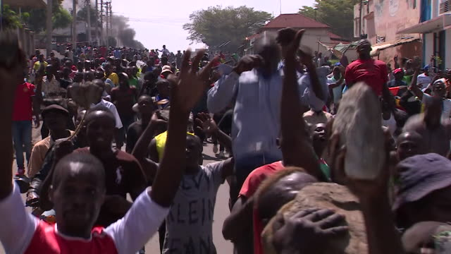 Supporters of Kenyan opposition leader Raila Odinga in the streets of Kisumu as the Supreme Court decides whether to proceed with a rerun of the...