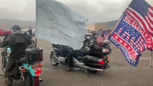 supporters of president donald trump participate in a car and motorcycle rally at a mall on november 1, 2020 in wilkes-barre, pennsylvania. president... - wilkes barre stock videos & royalty-free footage