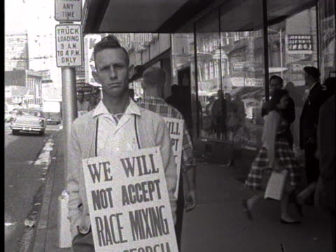 supporters of segregation walk the streets of atlanta. - social movement stock videos & royalty-free footage
