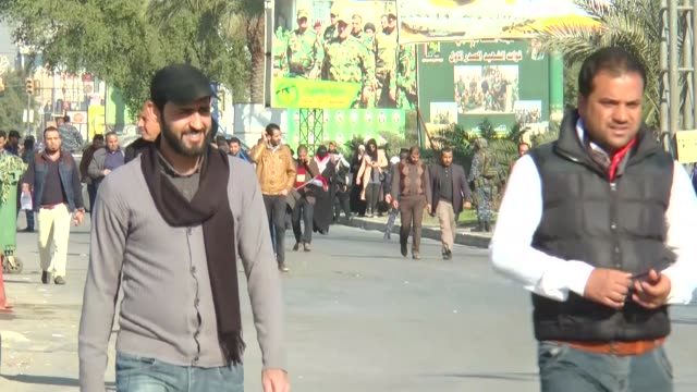 supporters of shiite cleric muqtada alsadr gather to stage a protest demanding the change of the iraq's independent high electoral commission's... - muqtada al sadr stock videos & royalty-free footage